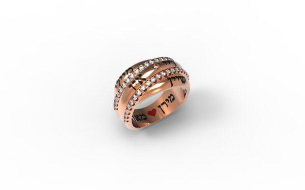 טבעות שמות-טבעת זהב אדום שמות בוזגלו