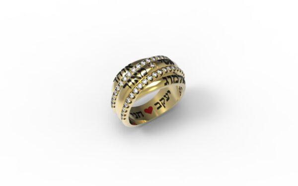 טבעות שמות-טבעת זהב שמות בוזגלו