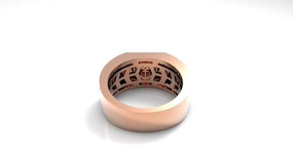 טבעות שמות-טבעת זהב אדום חותם פרונטלי