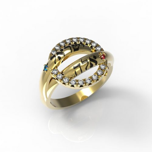 טבעות שמות-טבעת זהב ויקטוריה משובצת יהלומים