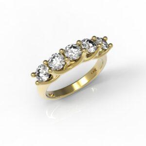 טבעות זהב-טבעת זהב יהלום 0.60