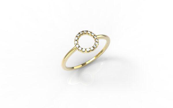 טבעות זהב-טבעת זהב יהלומים 0.10