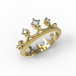 טבעות זהב-טבעת זהב יהלומים 0.11