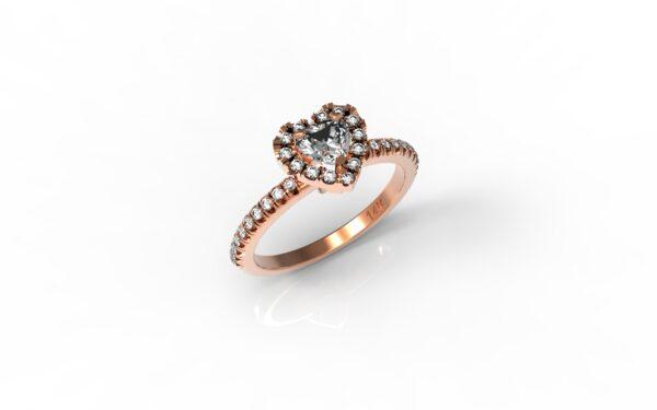 טבעות אירוסין-טבעת זהב אדום יהלום 0.25