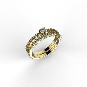 טבעות אירוסין-טבעת זהב יהלום 0.10