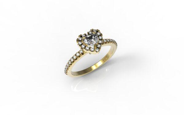 טבעות אירוסין-טבעת זהב יהלום 0.25