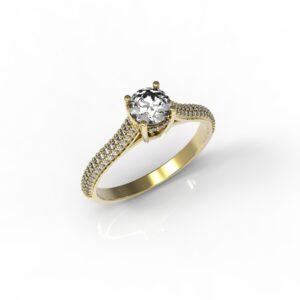 טבעות אירוסין-טבעת זהב יהלום 0.50