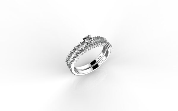 טבעות אירוסין-טבעת זהב לבן יהלום 0.10