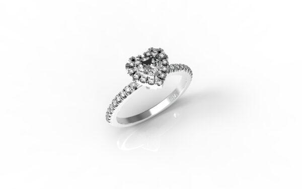 טבעות אירוסין-טבעת זהב לבן יהלום 0.25