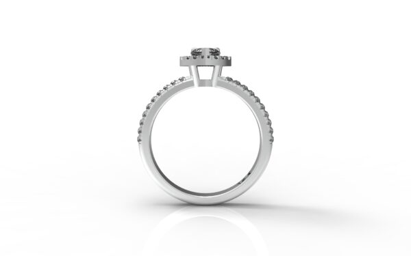 טבעות אירוסין-טבעת זהב לבן יהלום 0.25 פרונטלי