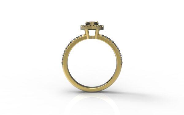טבעות אירוסין-טבעת זהב יהלום 0.25 פרונטלי