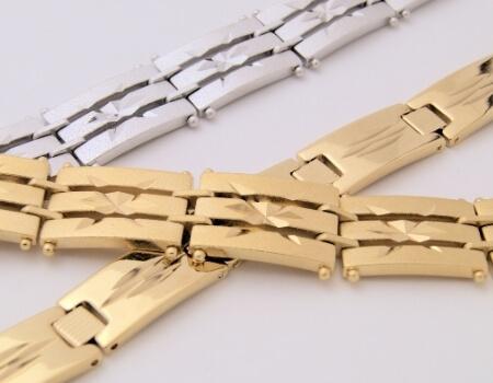 צמיד זהב לבן לגבר מאייב תכשיטים חנות תכשיטים